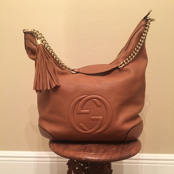 6ef2a9913b0 Gucci Handbags - Gucci Soho Large Pebbled Leather Hobo
